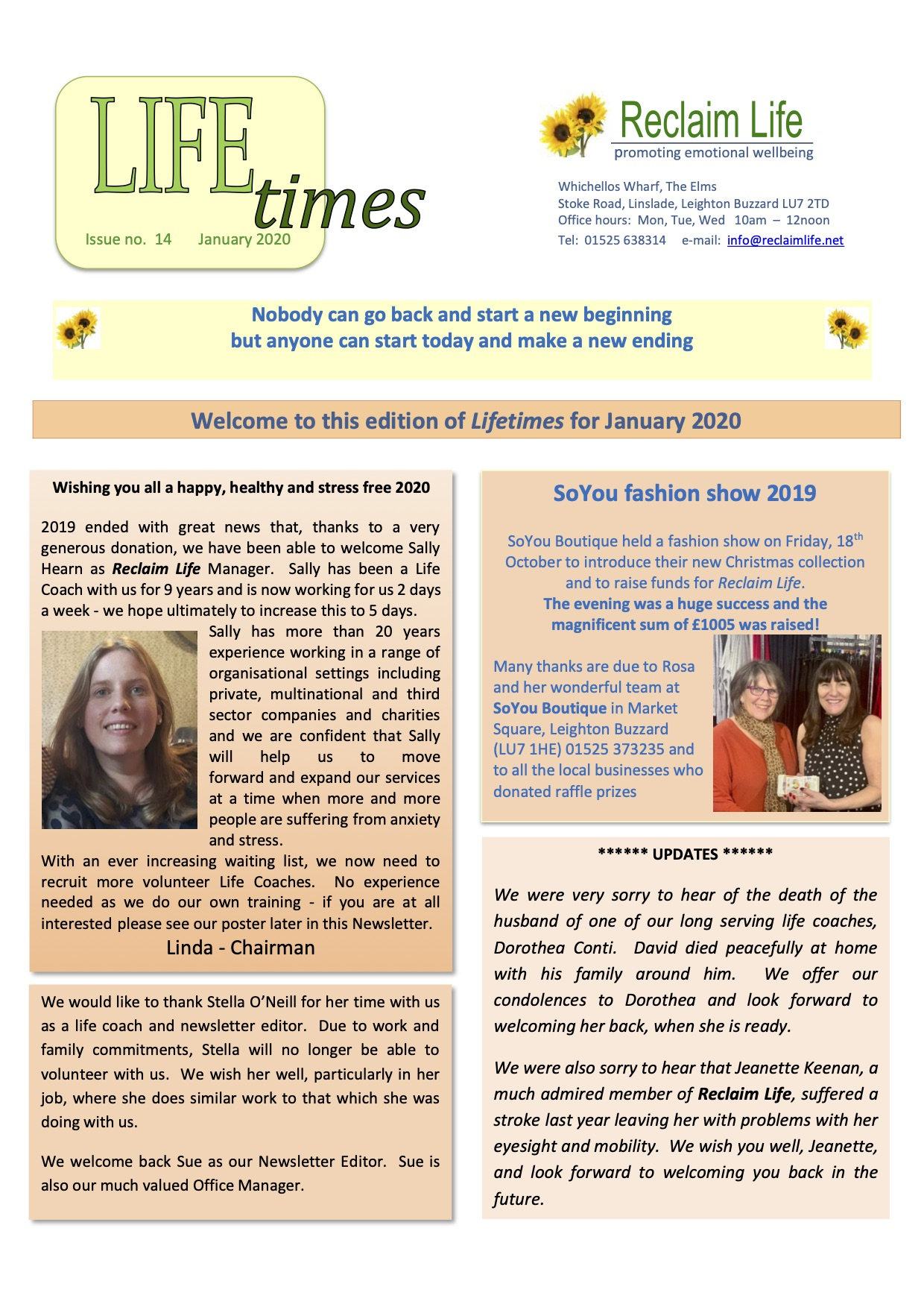 Newsletter January 2020 page 1